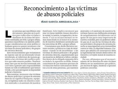Diario Vasco, 16 de abril de 2019